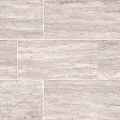 "Pietra Porcelain Collection Venata White - 3""x18"" Bullnose - FloorLife"
