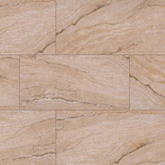 "Pietra Porcelain Collection Vezio Beige - 3""x18"" Bullnose - FloorLife"
