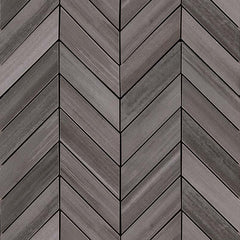 "Watercolor Porcelain Tile Collection Graphite- 12""x15"" Chevron Mosaic - FloorLife"