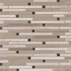 Marble Tile Collection White Oak Blend Interlocking - FloorLife