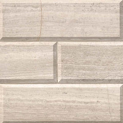 "Marble Tile Collection White Oak Subway 4""x12"" Beveled - FloorLife"