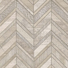 Marble Tile Collection White Quarry Chevron - FloorLife