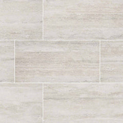 "Veneto Porcelain Tile Collection White - 3""x18"" Bullnose - FloorLife"