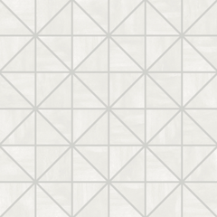 "Interceramic Construct Ghost White Mosaic Intersect 12""x12"""