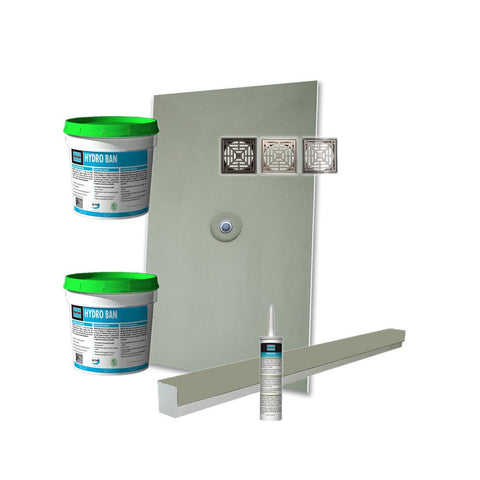 Laticrete Hydro Ban Pre-Sloped Shower Kit - 36in x 48in Center PVC