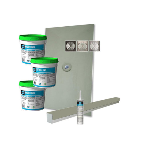 Laticrete Hydro Ban Pre-Sloped Shower Kit - 48in x 60in Center PVC