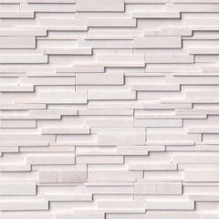 MSI Ledgestone Veneer - Arctic White 3D Panel - Honed - FloorLife