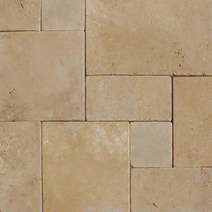 "Travertine Pavers Durango Cream 6""x6"" - FloorLife"