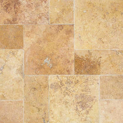 "Travertine Pavers Golden Leaf 6""x12"" - FloorLife"