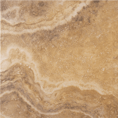 "Interceramic Travertino Royal Gold Floor Tile 16""x16"""