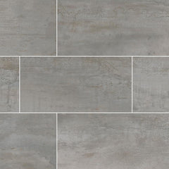 Oxide Magnetite Porcelain Tile Collection - 12x24""
