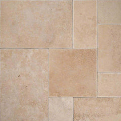 "Travertine Pavers Mocha 6""x6"" - FloorLife"