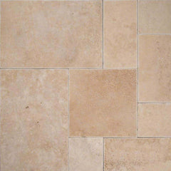 "Travertine Pavers Mocha 12""x12"" - FloorLife"