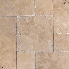 "Travertine Pavers Tuscany Chocolade 16""x24"" - FloorLife"