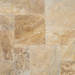"Travertine Pavers Tuscany Porcini 12""x12"" - FloorLife"