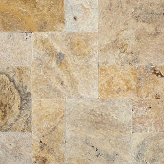 "Travertine Pavers Tuscany Scabas 8""x8"" - FloorLife"