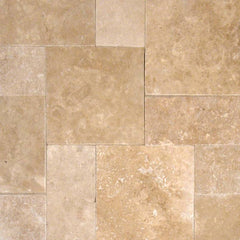 "Travertine Pavers Tuscany Walnut 16""x24"" - Split Face - Thickness 2"" - FloorLife"