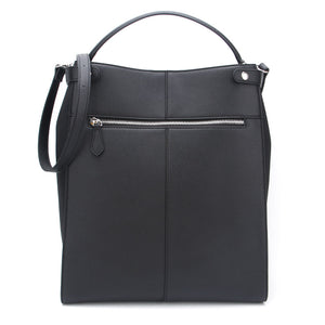 Black Ella Bag by Citi Collective Back View with Crossbody Strap and External Zip Pocket