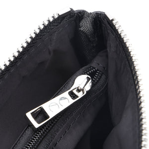 Black Jennie Clutch Bag by Citi Collective Detail View of Silver-Toned Inside Pocket Zipper Pull