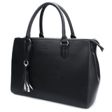 Black Maddaline Briefcase Bag by Citi Collective Angled View