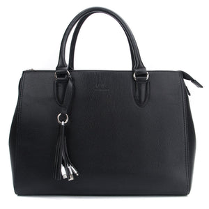 Black Maddaline Briefcase Bag by Citi Collective Front View