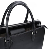 Black Maddaline Briefcase Bag by Citi Collective Detail View of Handles