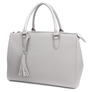Ice Grey Maddaline Briefcase Bag by Citi Collective Angled View