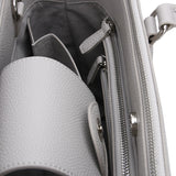 Ice Grey Maddaline Briefcase Bag by Citi Collective Detail View of Inside Showing Zipper and Organizational Pockets