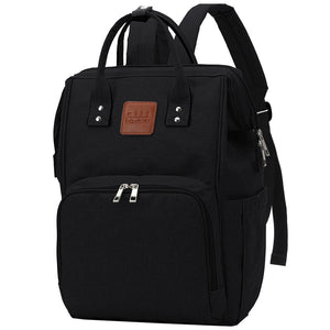 Black Traveler Backpack and Diaper Bag by Citi Collective Angled View