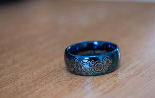 Blue Dome Ring - WoodenNation