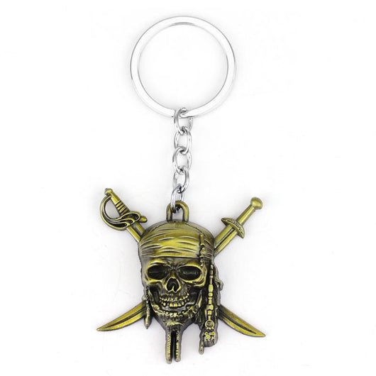 Pirates of the Caribbean Skull Keychain