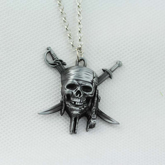Pirates of the Caribbean crossbones skull necklace
