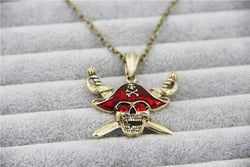 Pirates of the Caribbean Red Skull Necklace