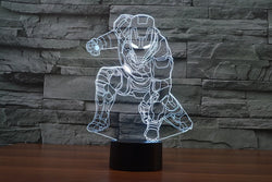 Iron Man 3D LED Lamp