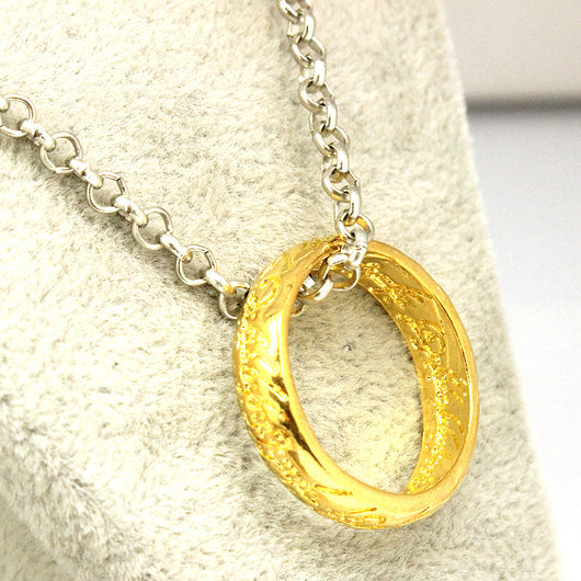 Lord of the Rings Mordor Silver/Gold Ring Pendant