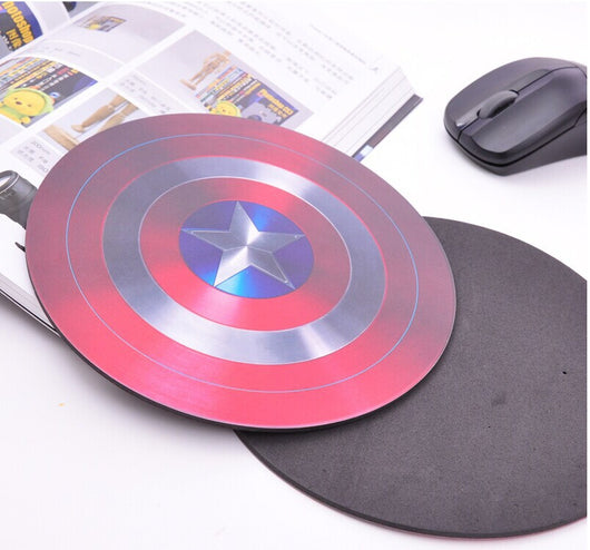 Captain America Shield Mouse Pad - WoodenNation