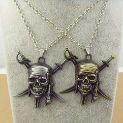Crossbones skull necklace - WoodenNation