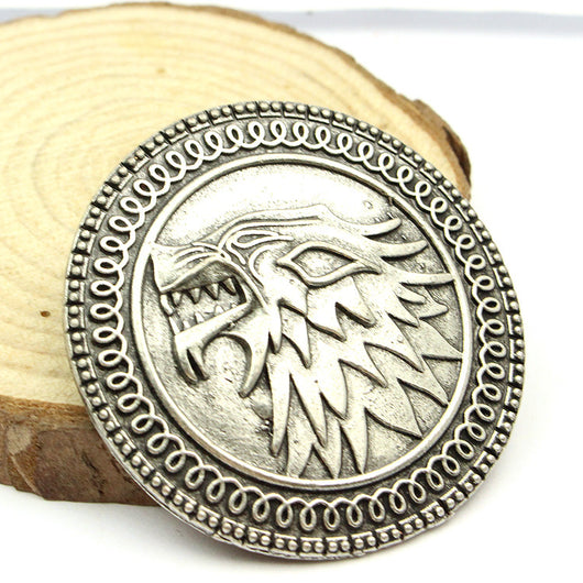 Game Of Thrones Brooche House Stark - WoodenNation
