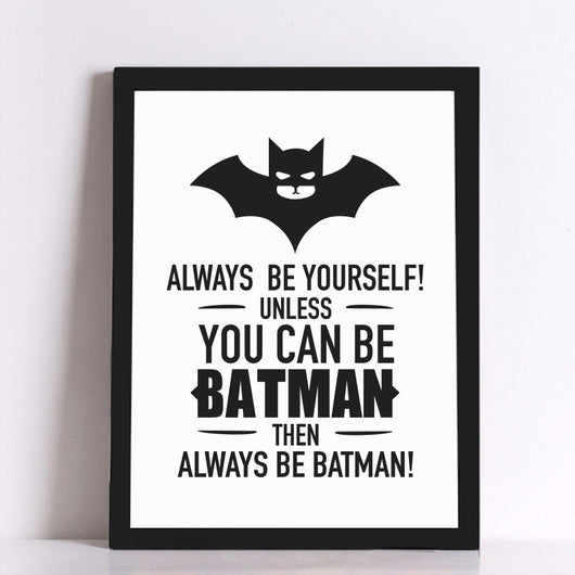 Batman Quote Canvas - WoodenNation