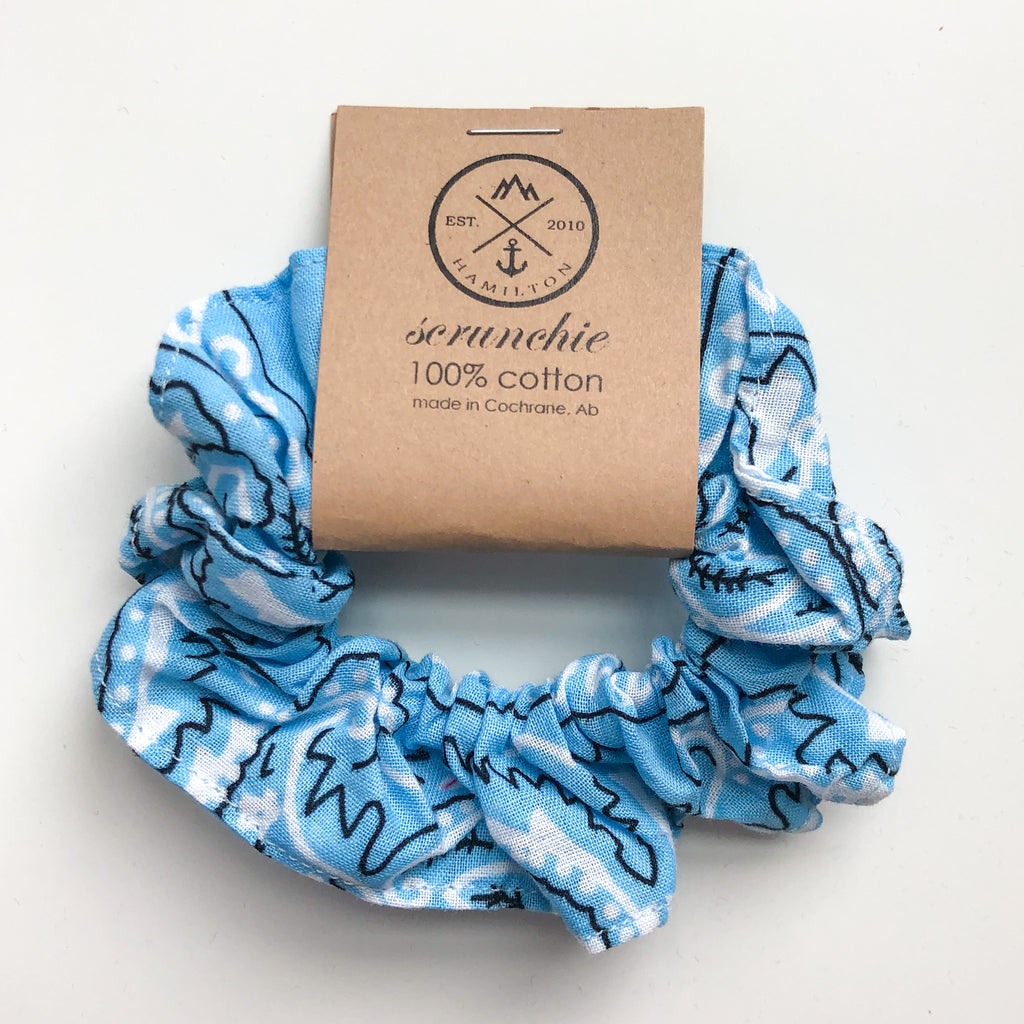 Scrunchie - western baby blue