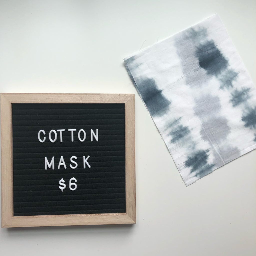 Cotton mask - Blue tyedye