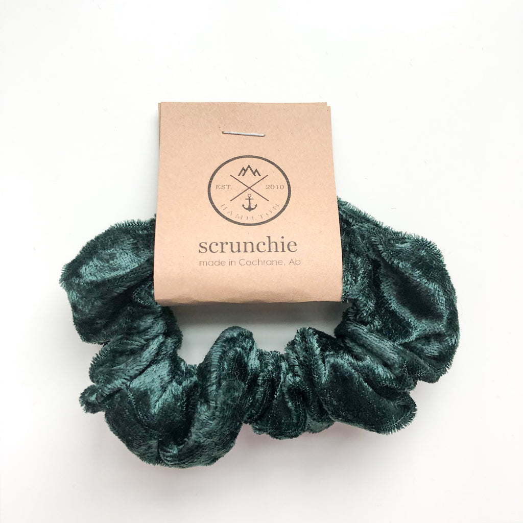 Scrunchie - Crushed forest green