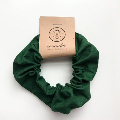 Scrunchie - dark green