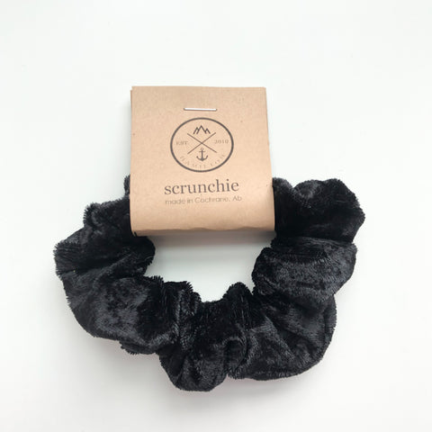 Scrunchie - Crushed midnight black