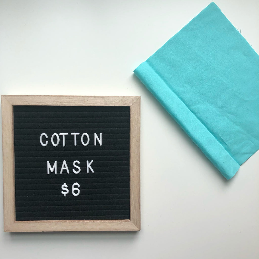 Cotton Mask - tiffany blue
