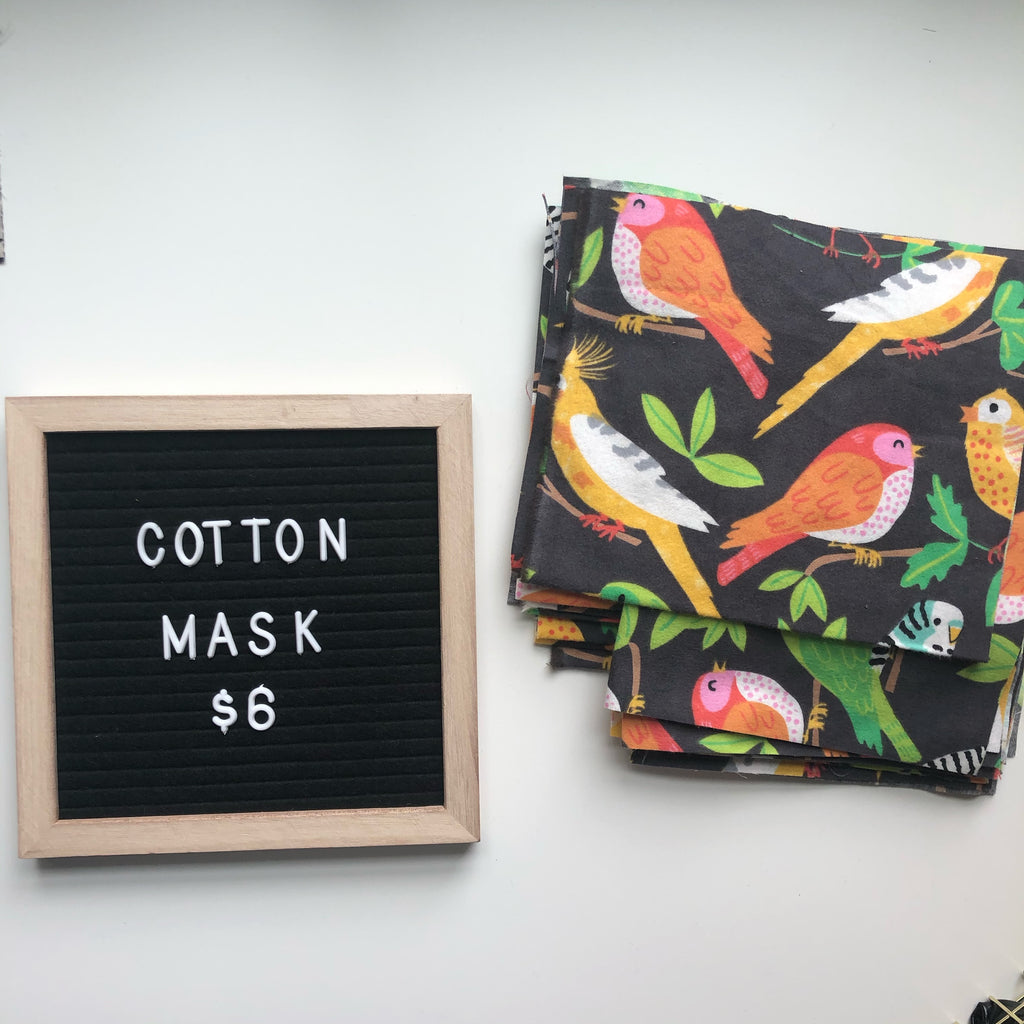 Cotton Mask - Birds