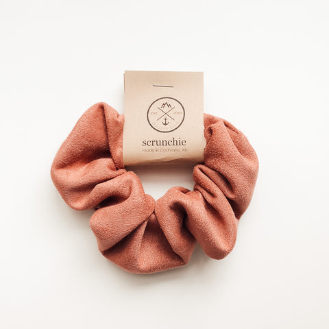 Scrunchie - Faux Suede Burnt Sugar