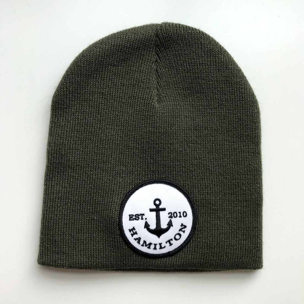 Vintage logo toque - cuffless green