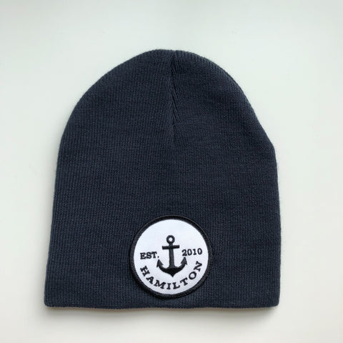 Vintage logo toque - cuffless navy