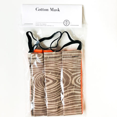 Wood grain - cotton mask